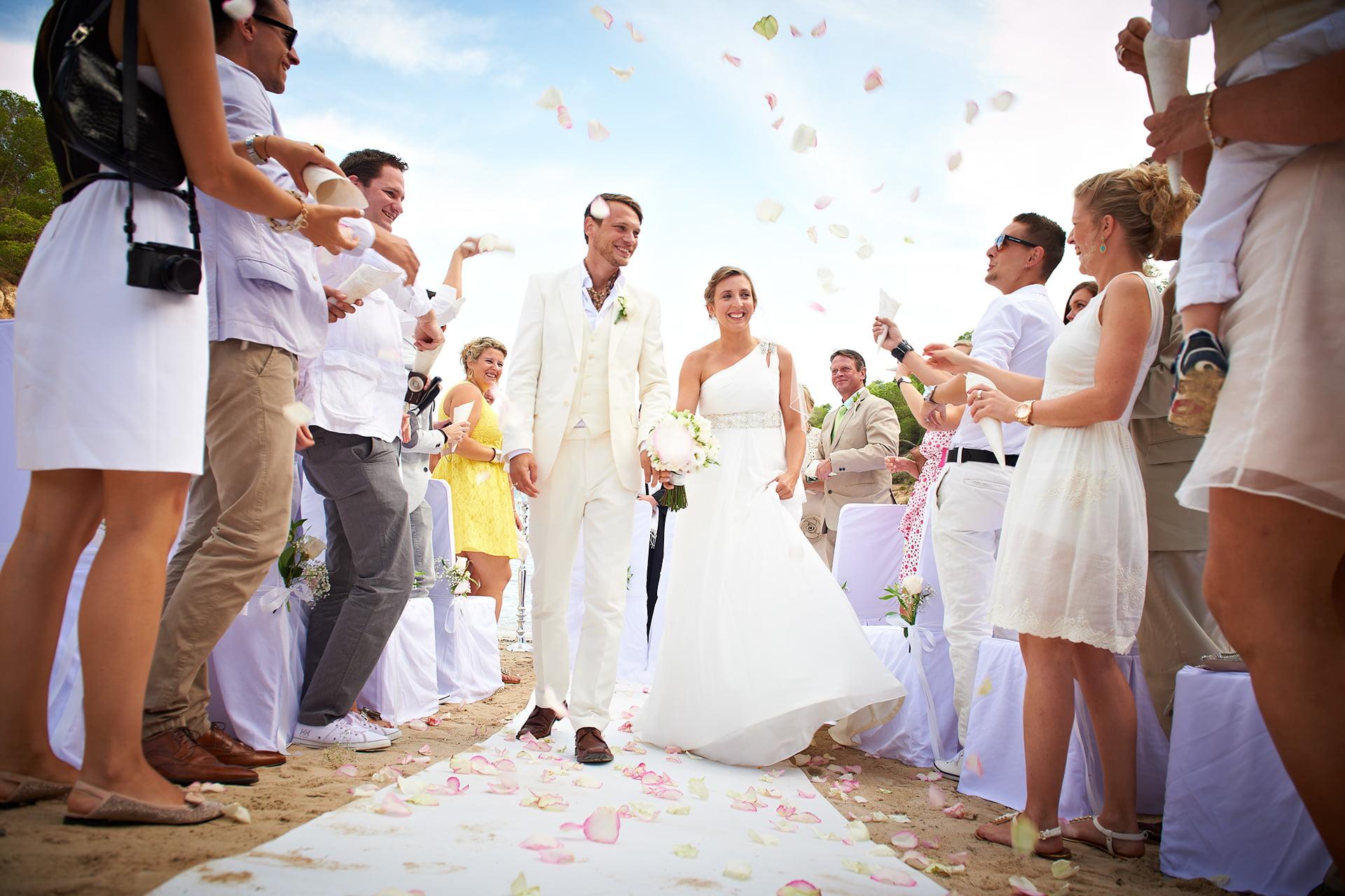 Hochzeit Mallorca Strand Cala Falco